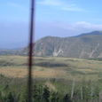 立山のバスの窓から